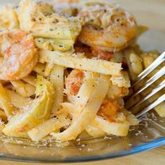 Shrimp And Artichoke Fettucine