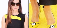 Sandra Bullock's @Minions-inspired pumps could be yours! Here's how http://peoplem.ag/C7JJQBz