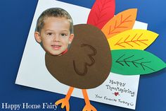 Turkey yourself! An adorable DIY Thanksgiving card - Chickabug Blog: ideas for your beautifully personalized parties