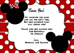 free minnie mouse printables | Printable red and black Minnie mouse birthday invitation | ElizaTate ...