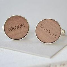 Groom Personalised Cufflinks - men's jewellery