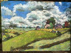 'Clerk's Bank' by Alex Wilson. Landscape in the Staffordshire Moorlands. 60cmx42cm
