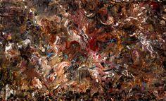 "Andromeda and The Dragon, 44""x72"", acrylic on canvas, 2104."