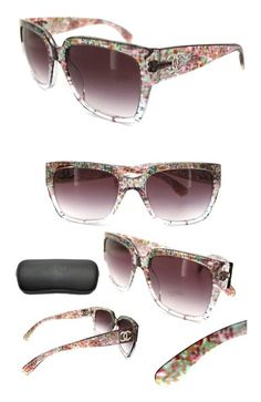 48e0af06c017c Chanel Sunglasses 5220 13133P Transparent Multicolour Violet Gradient