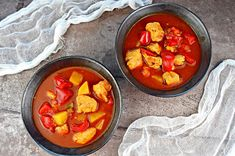 Fit zupa gulaszowa z kurczaka | – Dietetyczne przepisy – Diet Recipes, Healthy Recipes, Healthy Food, Recipe Images, Thai Red Curry, Cantaloupe, Food And Drink, Favorite Recipes, Lunch