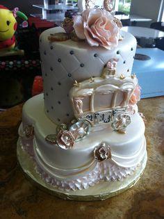 Princess themed first birthday cake