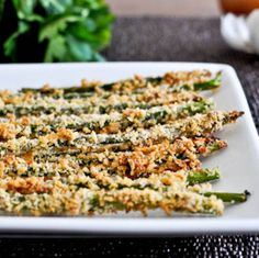 Crispy Parmesan Asparagus Sticks- substitute green beans