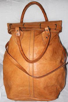 Vintage Light Brown Tan Leather Mail Bag Money Sack Carryon Canoa Argentina | eBay