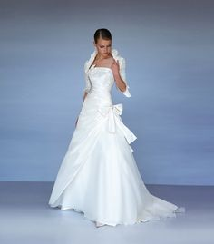 Abito da sposa svasato scollo canotta - Valentini Spose -