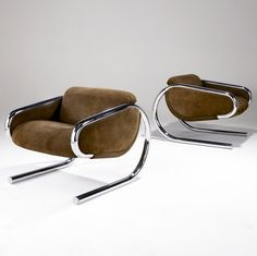 Harvey Probber, cantilevered lounge chair, 1970s.
