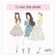 """Flower power with the Fashcom girls! ♥♥ #fashion #fashcom #illustration #fashioncomic #comic #draw #drawing #dress #shoes #magic #glitter #heels…"""