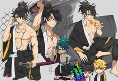Katana, Character Concept, Character Art, Character Design, Character Ideas, Samurai, Arte Ninja, Anime Character Drawing, Human Poses