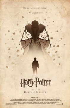 Harry Potter Minimalist Posters (can find on Etsy at https://www.etsy.com/listing/116690520/harry-potter-and-the-deathly-hallows)