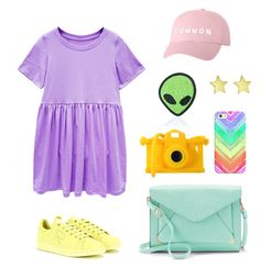 """""""From the galaxy"""" by ayukatz ❤ liked on Polyvore featuring adidas, Apt. 9, Moschino, Casetify, Love and Madness, Jennifer Meyer Jewelry and oontood"""