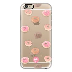 iPhone 6 Plus/6/5/5s/5c Case - Delicious Donuts - Transparent... (551.450 IDR) ❤ liked on Polyvore