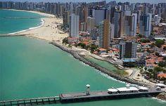 CEARÁ (cap. Fortaleza) - Praia de Iracema e Ponte dos Ingleses.