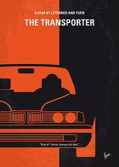 - No552 My The Transporter minimal movie poster  by Chungkong Art
