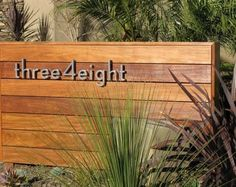 modern wood and chrome house number