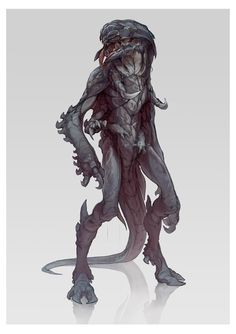 Here's the archetypical evil alien creature that will make your player's life as hard as possible. same sci-fi-rpg as the uploads before, another version of this beast Monster Concept Art, Alien Concept Art, Creature Concept Art, Fantasy Monster, Monster Art, Creature Design, Alien Creatures, Fantasy Creatures, Mythical Creatures