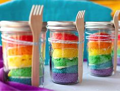 Easy Rainbow Cupcakes w/ chocolate frosting