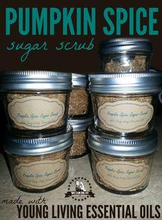 Pumpkin Spice Sugar Scrub Recipe with Young Living Essential Oils