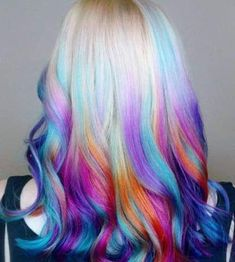 Fast Hairstyles, Creative Hairstyles, Celebrity Hairstyles, Underlights Hair, Pretty Hair Color, Hair Dye Colors, Weave Hair Color, Scene Hair Colors, Funky Hair Colors