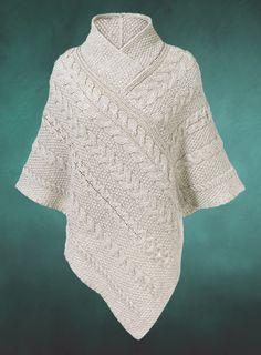 Knitwear - Shawl-Collared Poncho