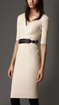 ShopStyle: Crêpe-Jersey Tailored Dress. So beautiful!!!