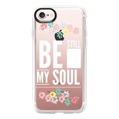 Be Still - iPhone 7 Case And Cover ($40) ❤ liked on Polyvore featuring accessories, tech accessories, iphone case, iphone cases, iphone cover case, clear iphone case and apple iphone case