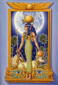 Hathor - The Ancient Egyptian Goddess of Love, Joy, Music, Fertility and Motherhood Ancient Goddesses, Egyptian Mythology, Egyptian Symbols, Ancient Egyptian Art, Egyptian Goddess, Gods And Goddesses, Bastet, Egyptian Queen, Egypt Art