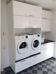 Upphöjd tvättmaskin Familjen i Glömsta - Bygga hus
