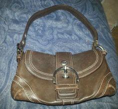 Coach Brown Leather Handbag G0779-F10909 #Coach #ShoulderBag