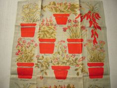 Vintage Vera Towel Herbs in Pots MWT by unclebunkstrunk on Etsy, $39.99