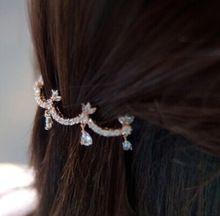 2015 venta al por mayor corea moda cristal corona borla sombreros accesorios para el cabello Rhinestone Peal pinzas para el cabello broches para mujeres(China (Mainland))