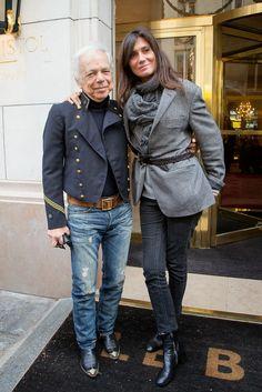 Ralph Lauren and Emmanuelle Alt
