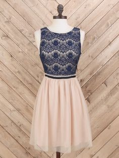 Altar'd State Lace and Mesh Dress
