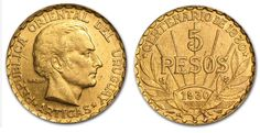 This Gold coin was issued to commemorate the centennial of the Uruguayan Constitution. This coin contains .2501 oz of pure Gold in Almost Uncirculated or Better condition