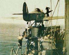 Sea Hurricane a Hurri Cat. One use convoy protection. Ww2 Aircraft, Military Aircraft, Nagasaki, Hiroshima, Hawker Hurricane, Iwo Jima, Flying Boat, Ww2 Planes, Vintage Airplanes