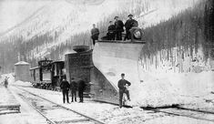 Canadian Pacific Railway snow plough, Rogers Pass, British Columbia. ca. 1887-1889]