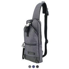 LEFTFIELD Sling Bags for Men - S.Korea Shoulder Sling Bag ,Front pocket and Inner zip pocket, Adjustable shoulder strap, cushioning by a padding on the bag