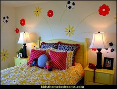 girls soccer theme bedroom decorating ideas Emmys Room