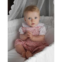 Rachel Riley Bibbed bloomers for baby girl with a ditsy summer floral print. $99.00 www.rachelriley.com