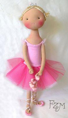 doll toy bear, ballerina doll