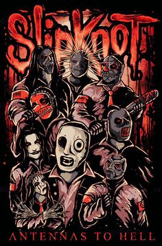 Masked Musicians Slipknot Illustration Pinterest