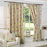 Charlotte Ready Made Lined Curtains Curtains Uk, Printed Curtains, Modern Curtains, Modern Traditional, Traditional House, Traditional Curtains, Small Cushions, Beautiful Curtains, Pencil Pleat