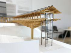 archi depot tokyo exhibiton at milan triennale_designboom_020; yusuhara woden bridge museum by kengo kuma