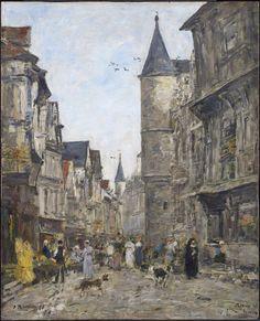 Saint-Romain Street, Rouen, 1895. Eugene Boudin