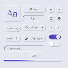 neumorphism icons on Behance Web Design Mobile, Web Ui Design, Flat Design, Design Design, Interface Web, Interface Design, Page Web, Ui Web, Website Design Inspiration
