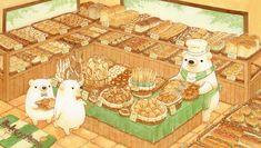 「くまのパン屋さん」/「ちっぷ」のイラスト [pixiv]