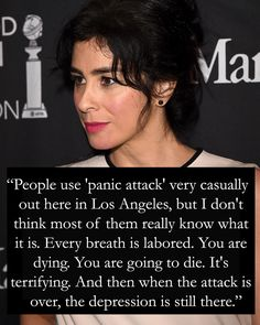 """Referencing her depression, she added: """"It feels like I'm desperately homesick, but I'm home."""" ~ Sarah Silverman"""